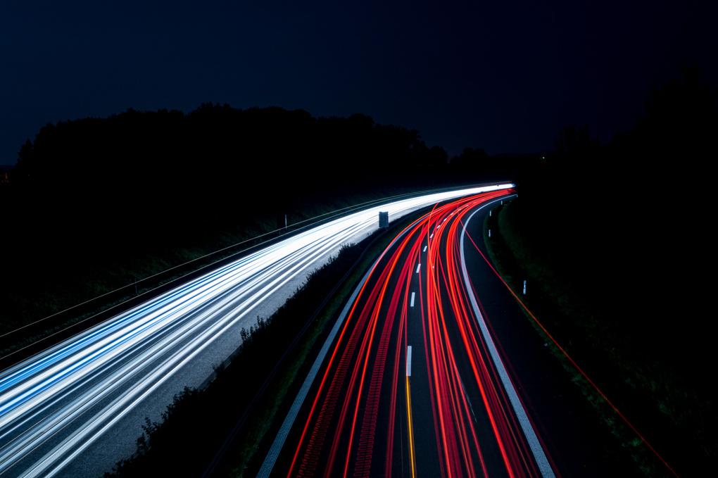 Audi by night by Ralph E.