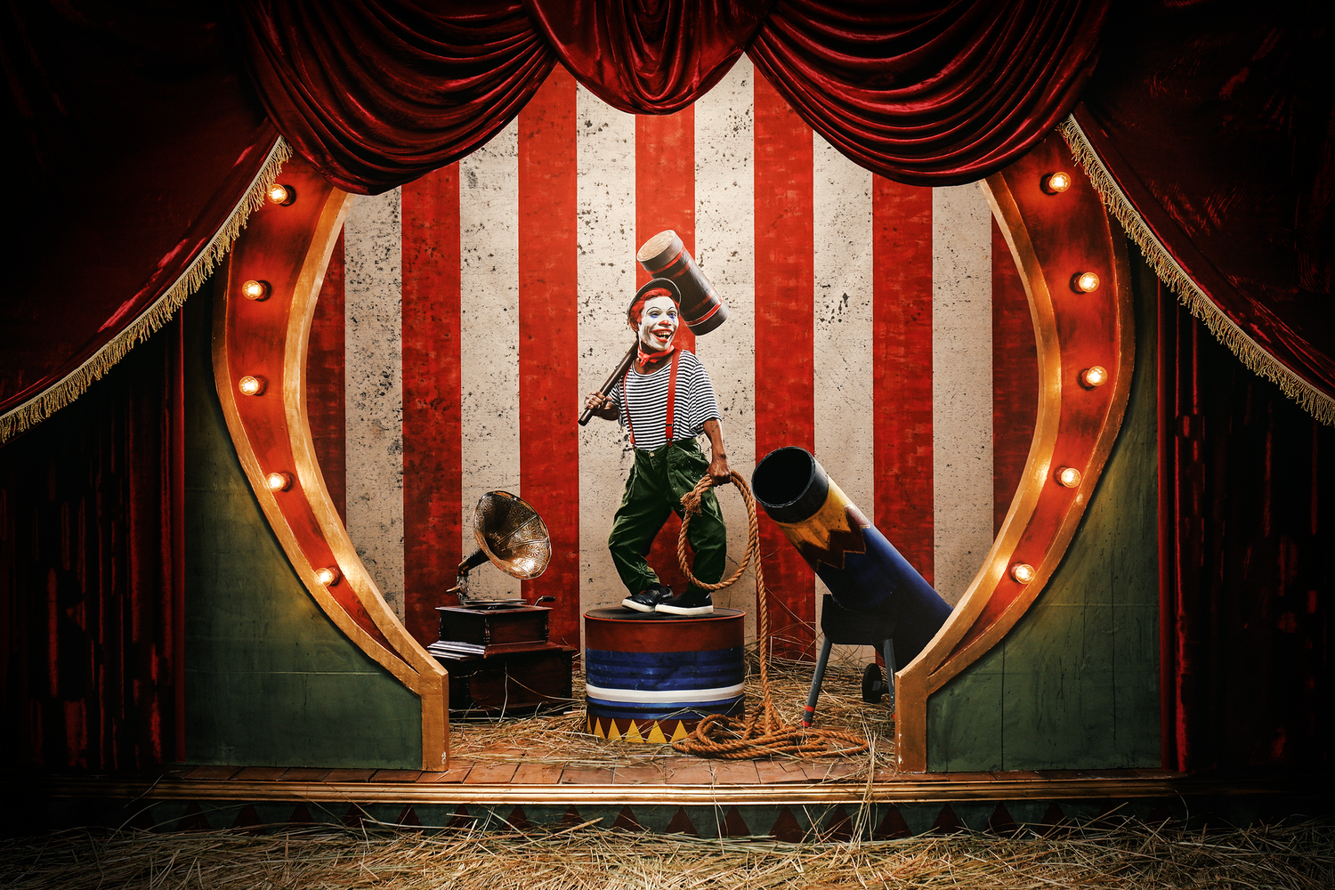 Circus Of Doom - Circus Clown by Jan Gonzales