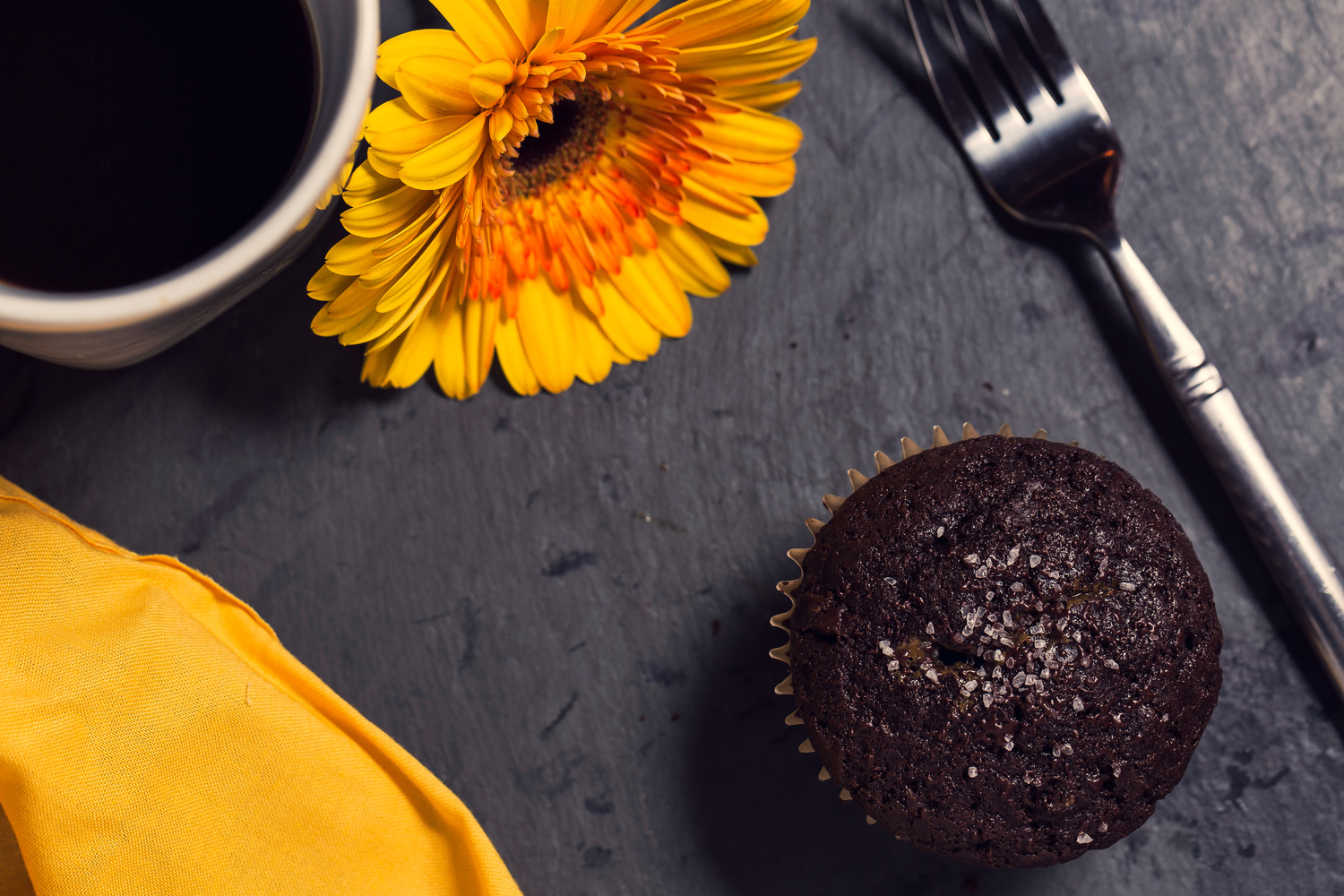 Double chocolate salted caramel muffins  by Thomas Galante