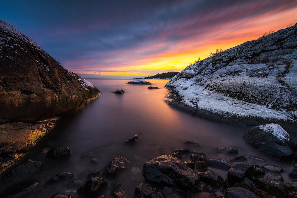 Swedish sunset by Philip Slotte