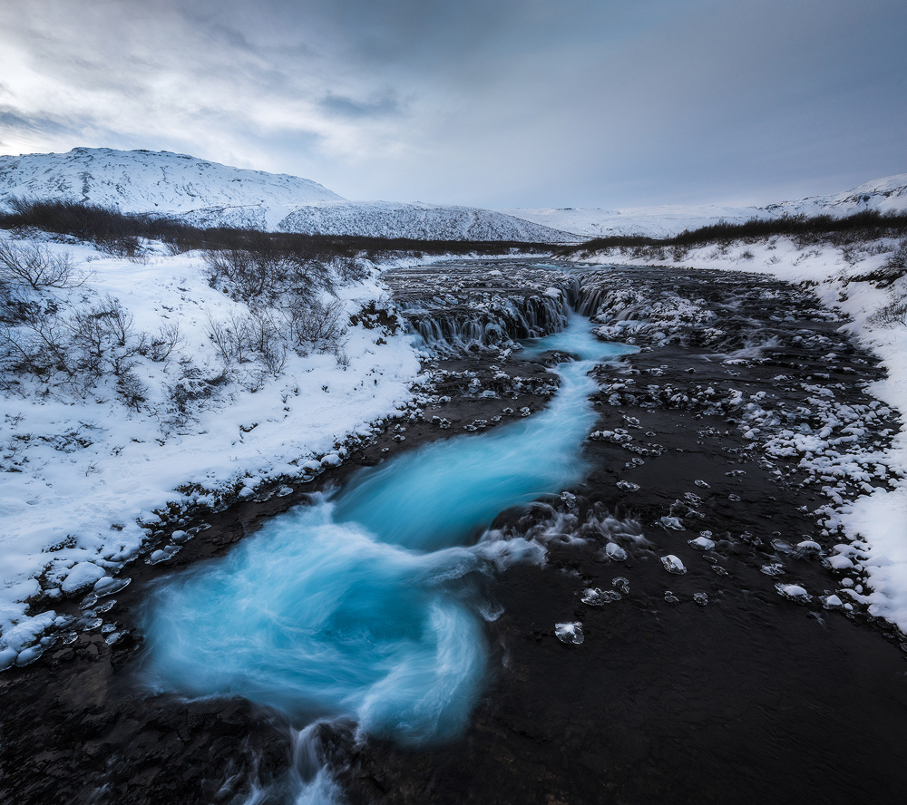 Winter at Bruarfoss by Philip Slotte