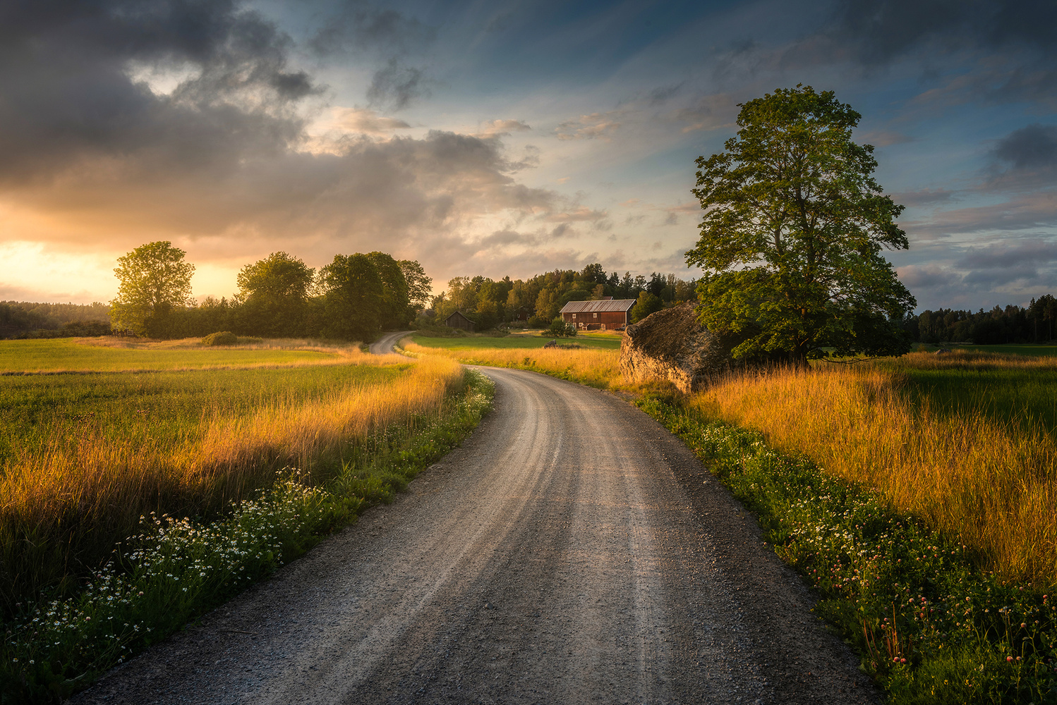 Countryside road by Philip Slotte