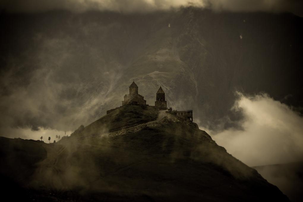 High in mountains by Giorgi Shermazanashvili