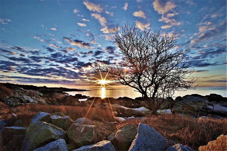Maine sunrise 2 by James Mlodynia