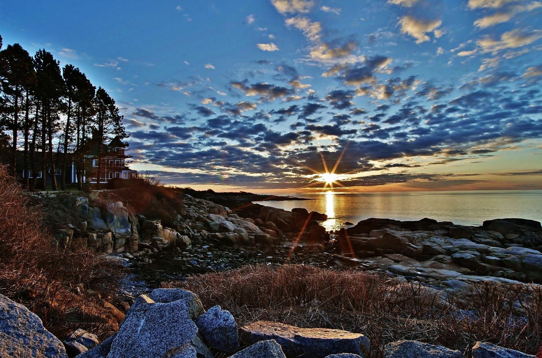 Maine Coast Sunrise 1 by James Mlodynia