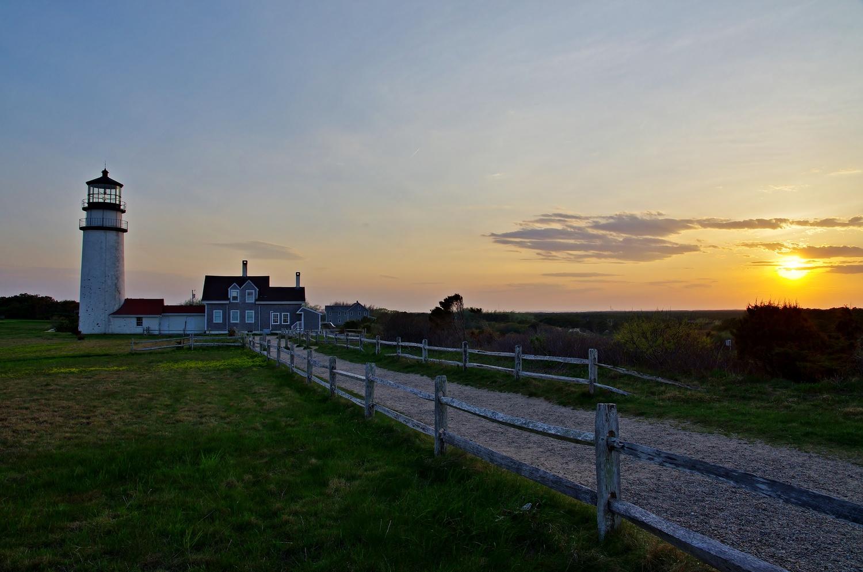 Sunset at Highland lighthouse by James Mlodynia