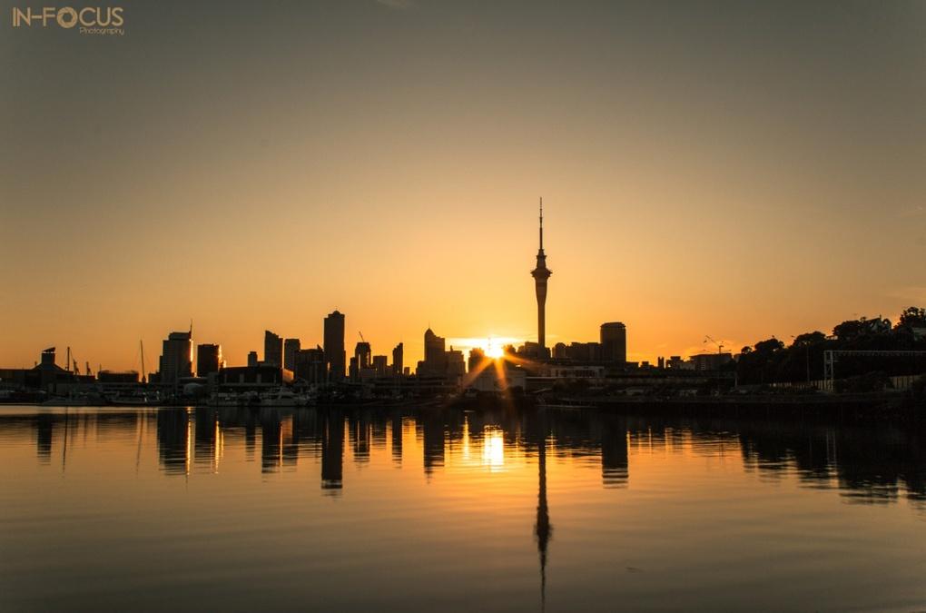 Auckland CBD Sunrise by Chris Hall