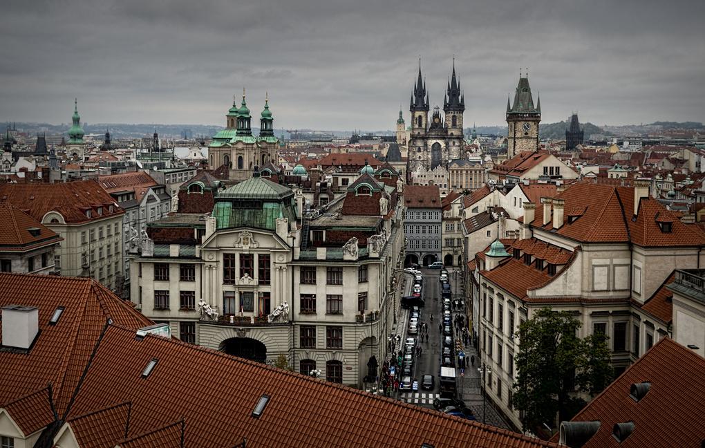 Prague overview II by Trent Cooper