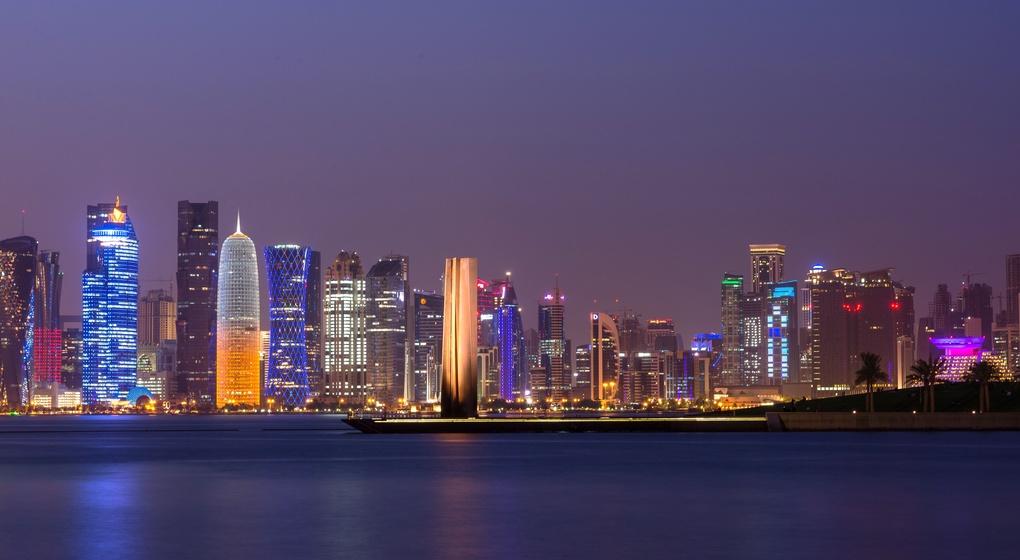 Doha Skyline by Saad Siddiqui
