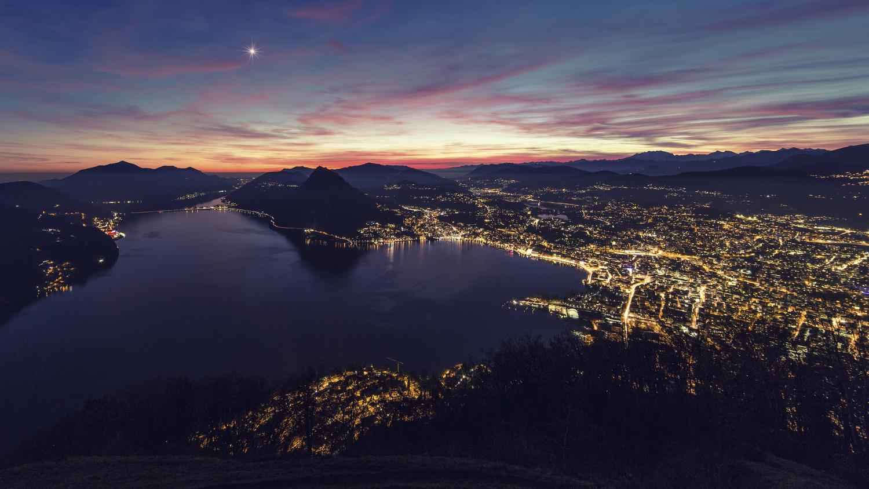 Lugano City Lights by Raf Olaerts