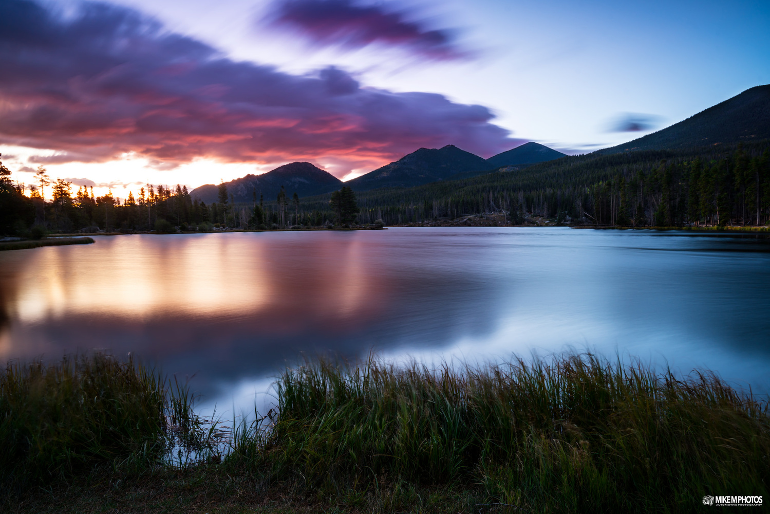 Sprague Lake Sunrise by Mike Moore