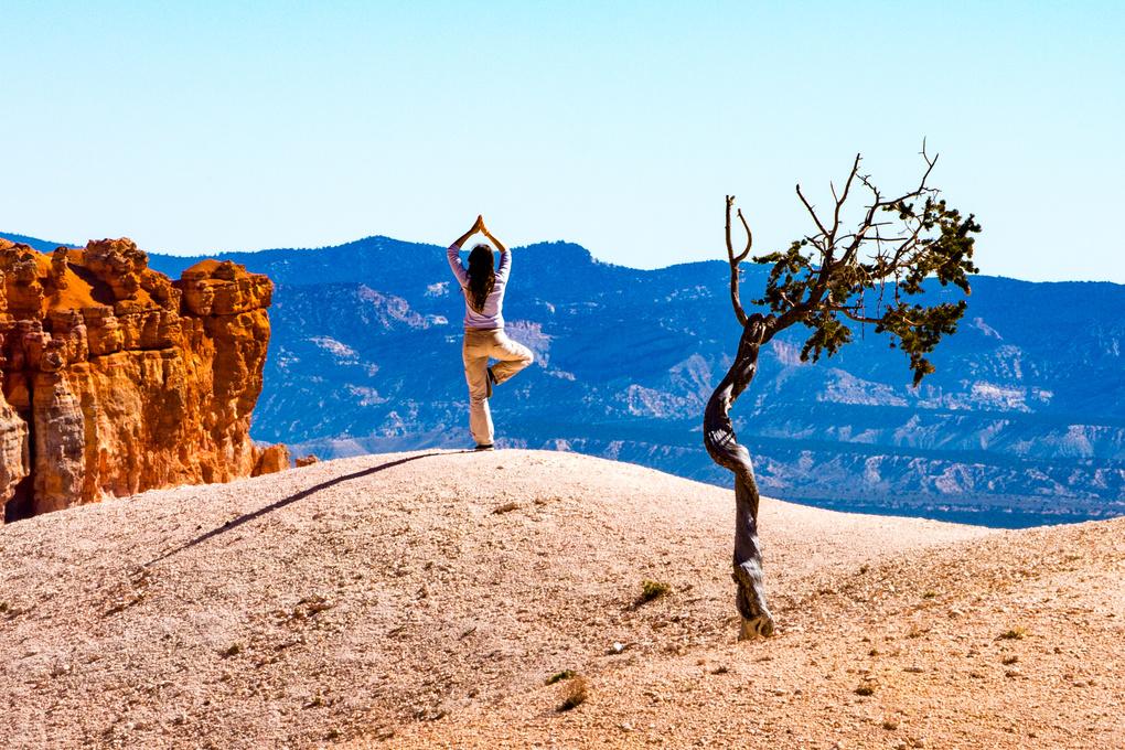 Yoga at Bryce Canyon by John Zacharyczuk