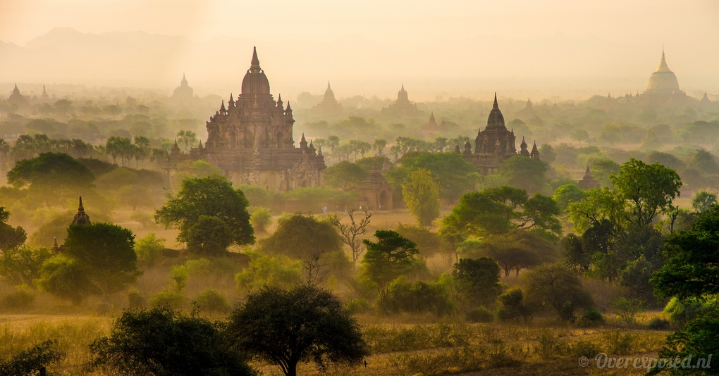 Bagan Sunrise by Russell Pearson