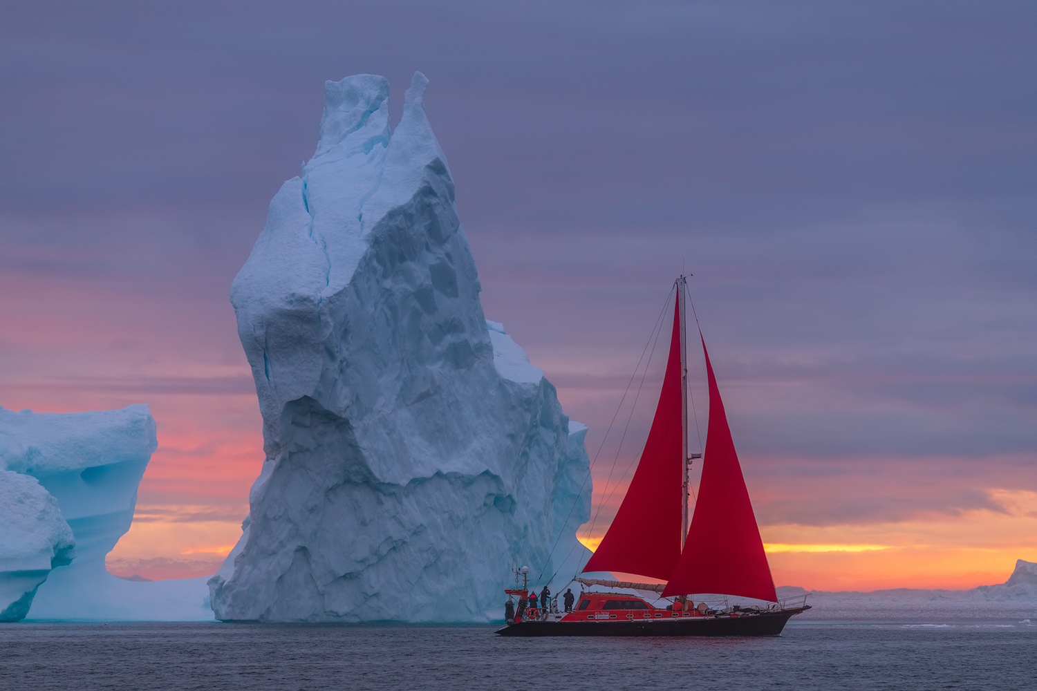 [ ... sailing in greenland ] by Raymond Hoffmann