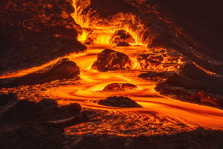 [ ... lava falls ] by Raymond Hoffmann