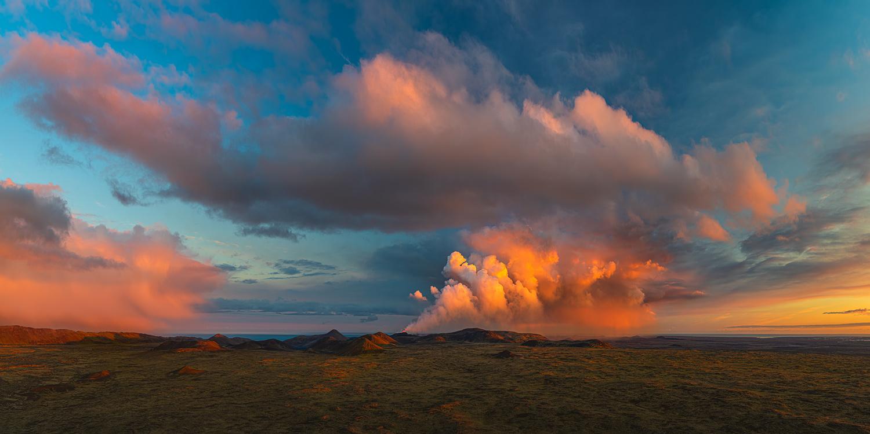 [ ... midnight sun volcano ] by Raymond Hoffmann