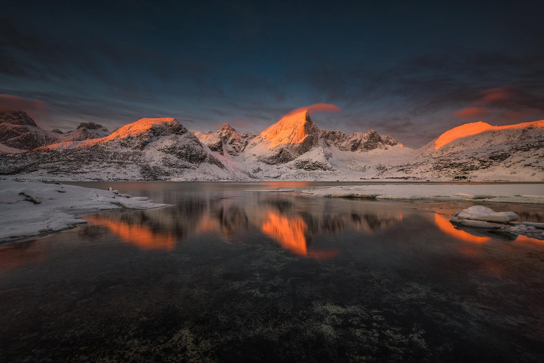 [ … Mountain glow ] by Raymond Hoffmann