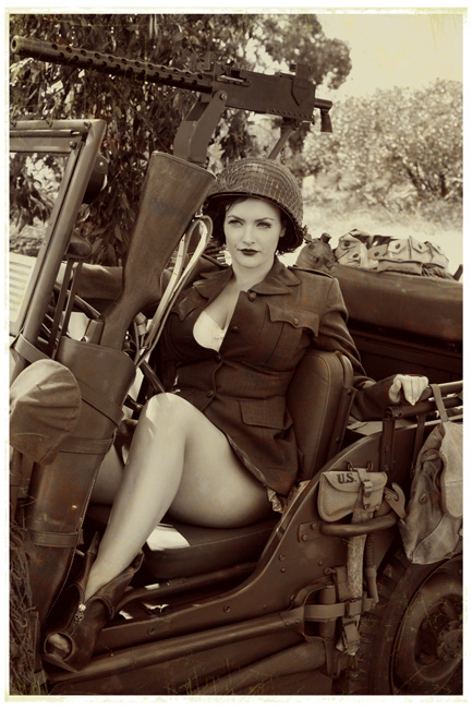 Pinup in Jeep by David Woolley