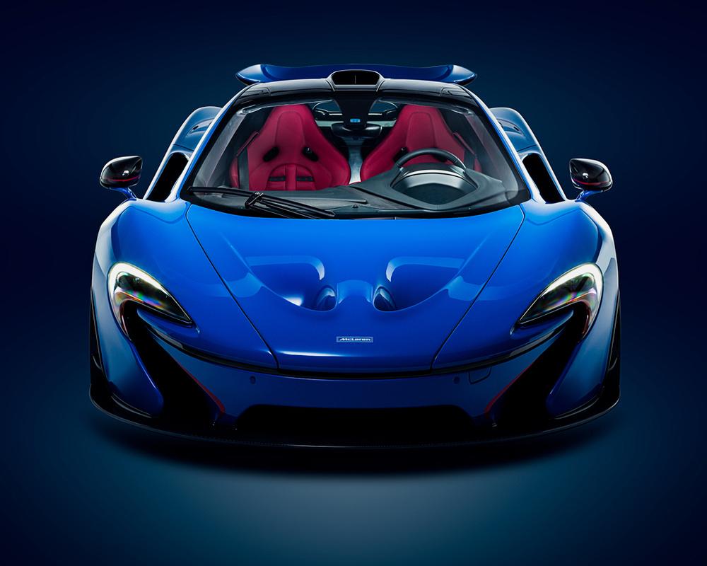 McLaren P1 in Professor 2 Blue by Evan Wawrzyniak