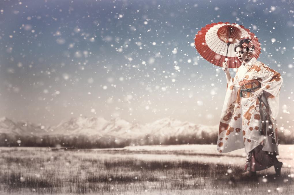 Snow Geisha by Chris Bergstrom
