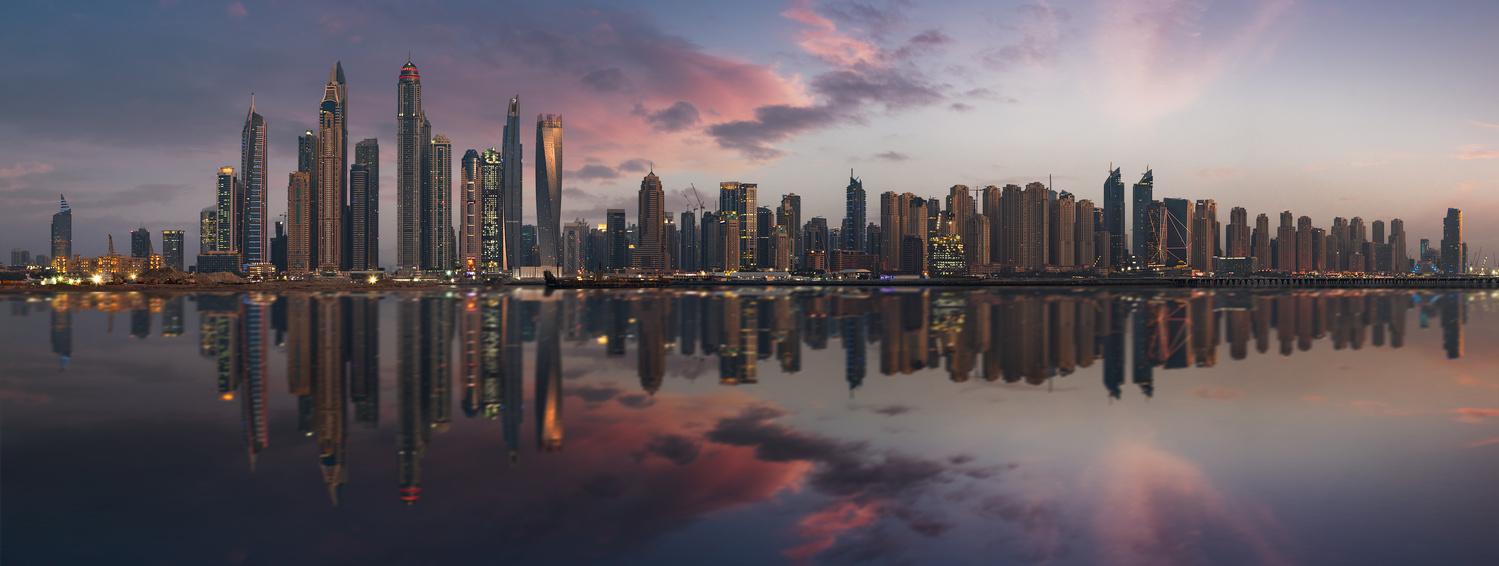 Dubai Marina panorama by Vadim Sherbakov