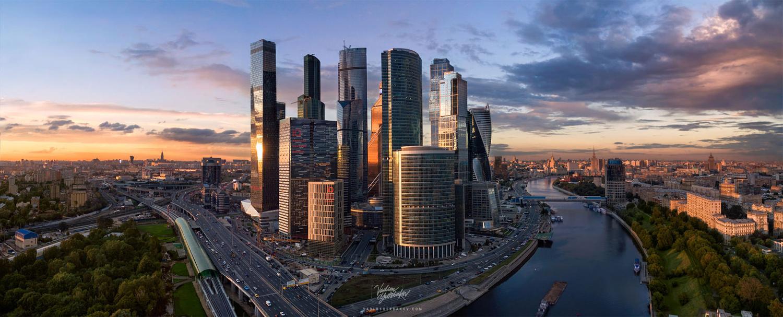 Moscow City panorama by Vadim Sherbakov