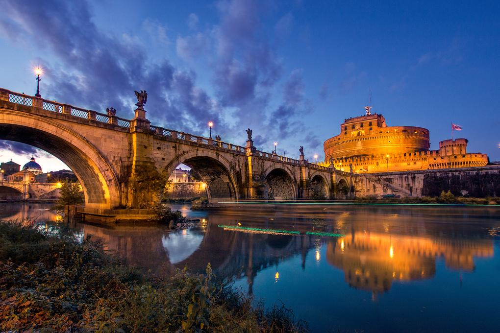 Ponte Sant'angelo by Vadim Sherbakov