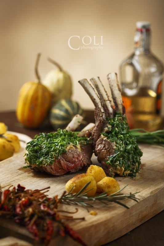 Mustard and Chives Rack of Lamb by Sebastian Colibar
