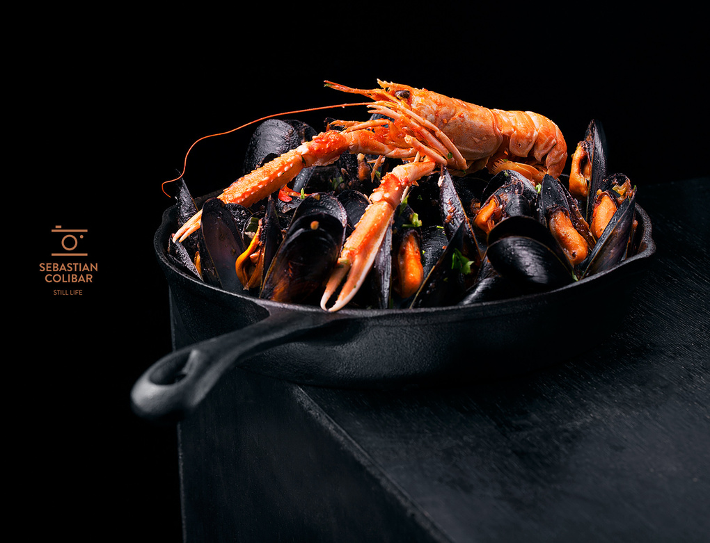 Mussels with langoustine by Sebastian Colibar