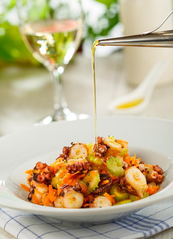 Octopus salad by Sebastian Colibar