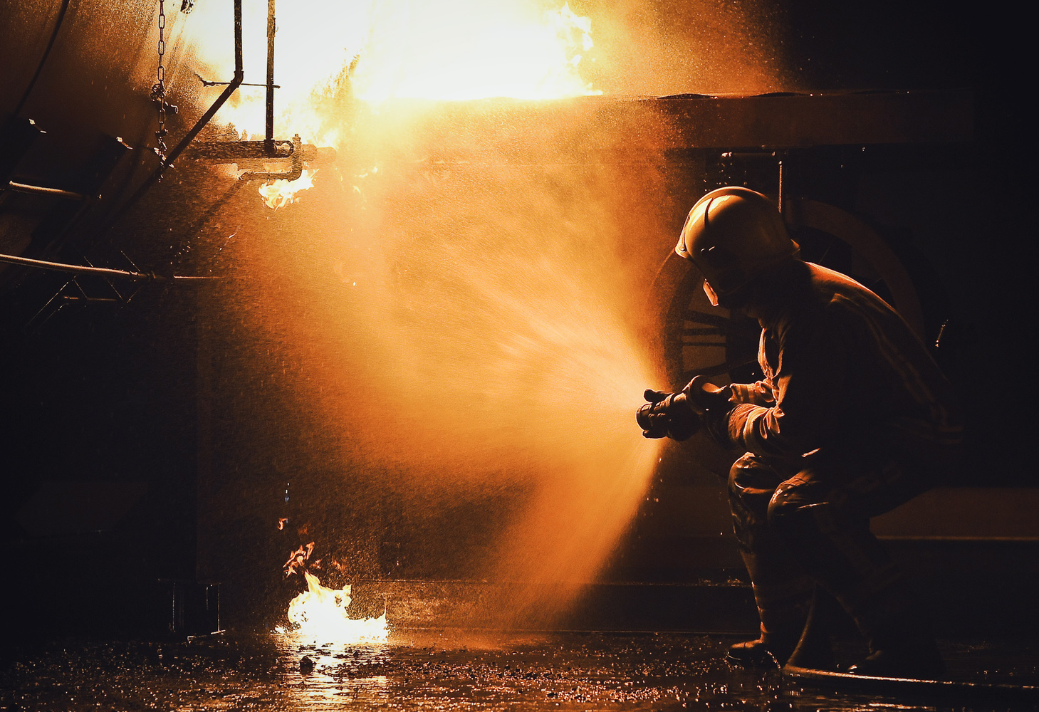 Fire training by Graham Taylor