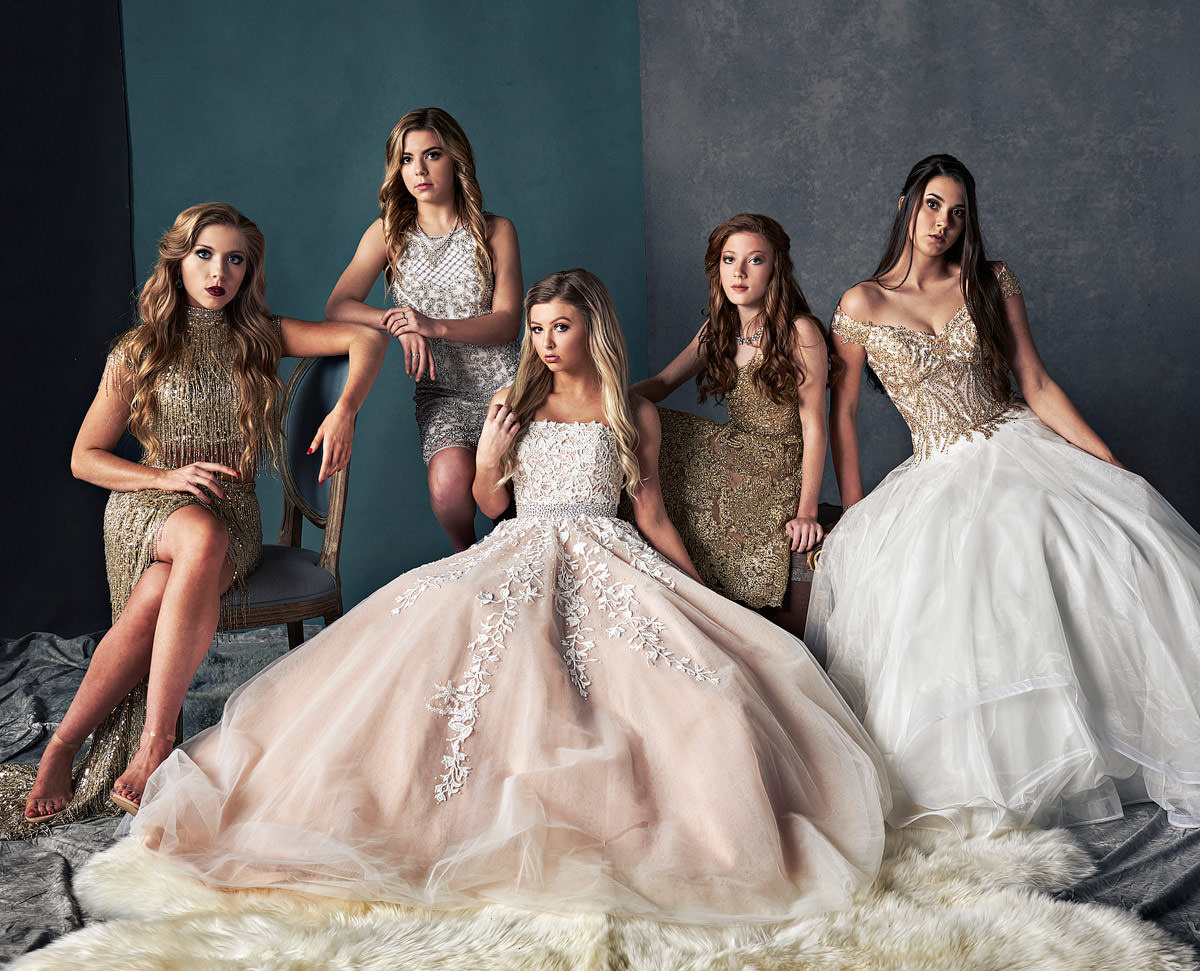 Prom Group Shoot - Vanity fair Inspired by JEFF Dietz