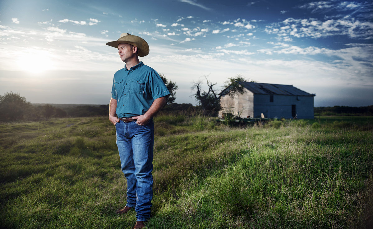 Farmer Environmental business portrait by JEFF Dietz