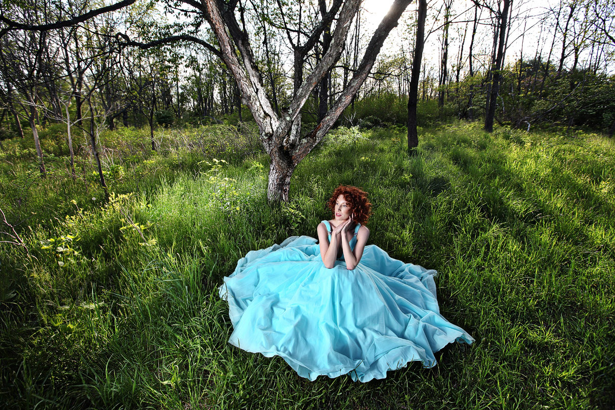 fashion gown outdoors - inspired by Twilight by JEFF Dietz