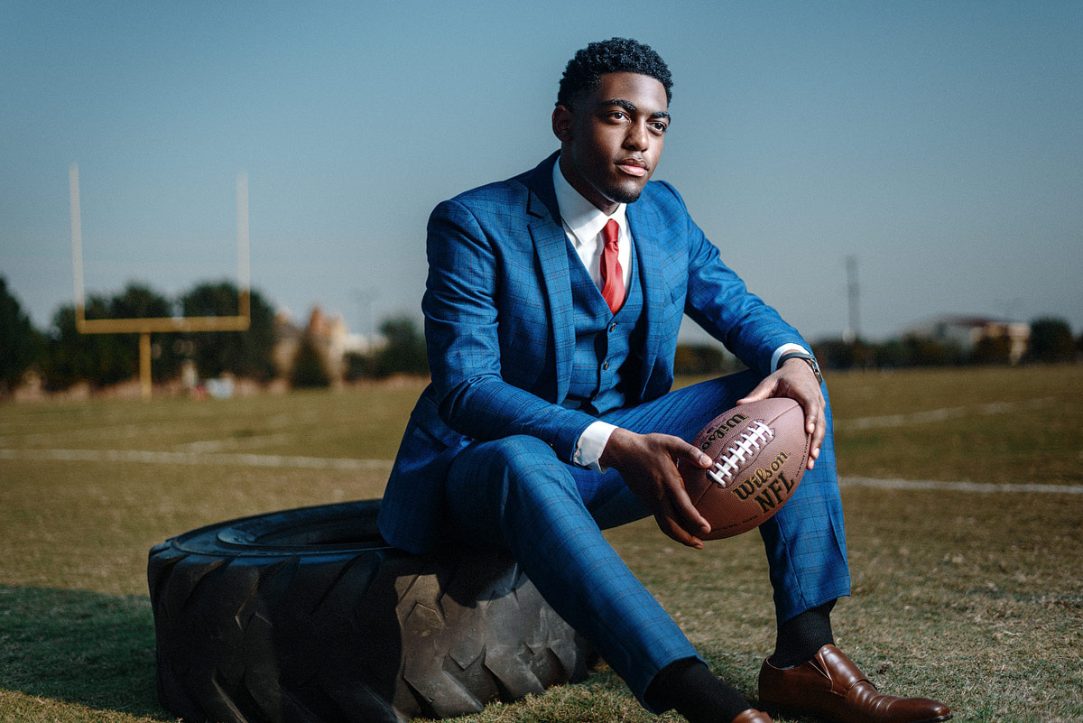 High School Football Portrait by JEFF Dietz