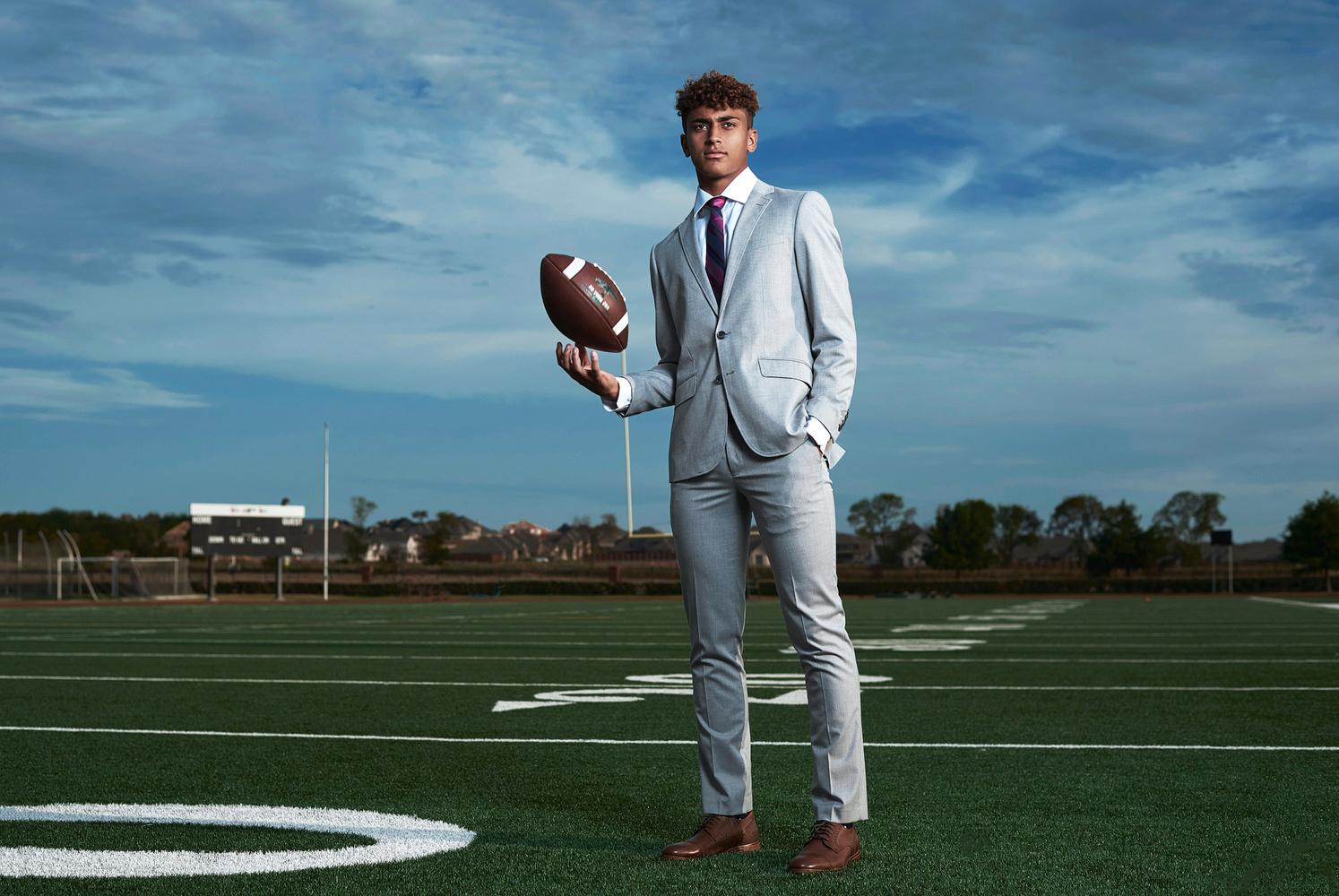High School Sports Fashion Portraits - Football by JEFF Dietz