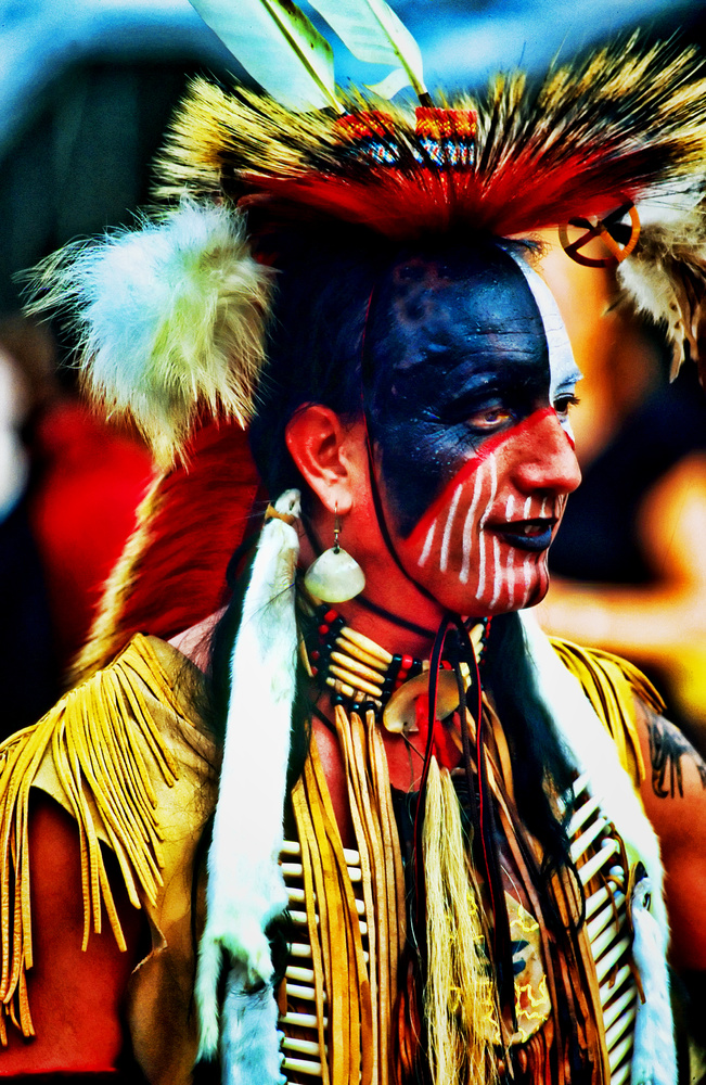 Native American portrait. by Bill Jonscher