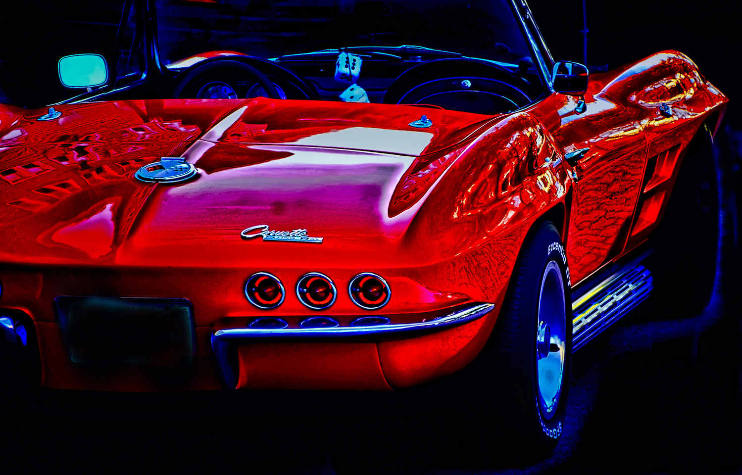 Reflections on a 1963 Corvette ragtop by Bill Jonscher