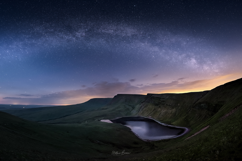 Milky Way over Llyn Y Fan Fach by Mathew Browne