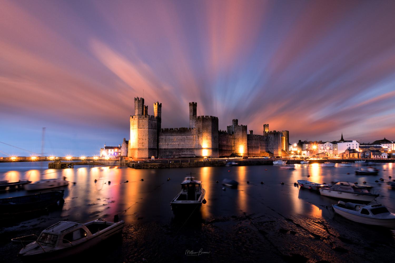 Caernarfon Castle at Sunset by Mathew Browne