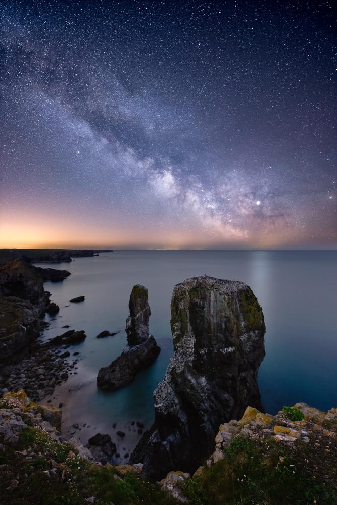 Milky Way Over Elegug Stacks by Mathew Browne