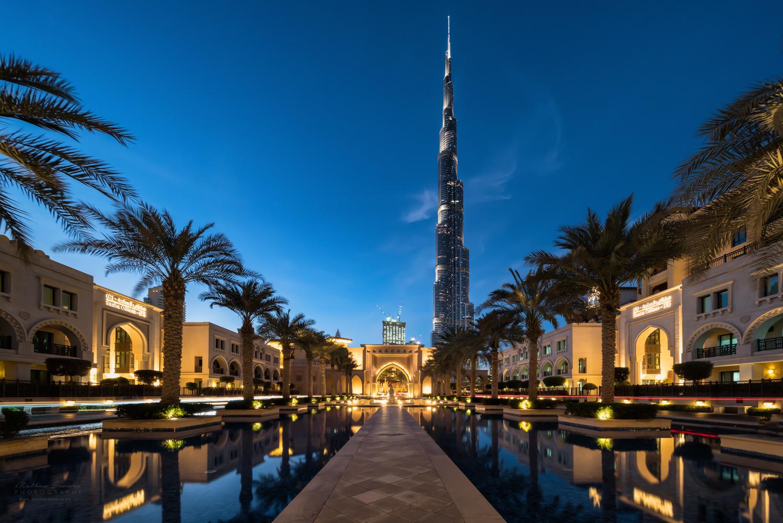 Palace Reflecting Pool, Dubai by Mathew Browne