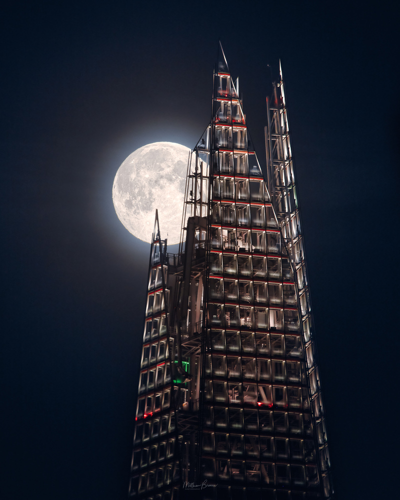 Moonrise Above The Shard by Mathew Browne