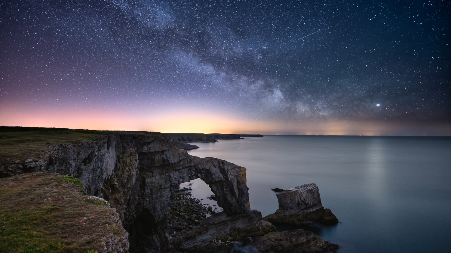 Milky Way Above Green Bridge by Mathew Browne