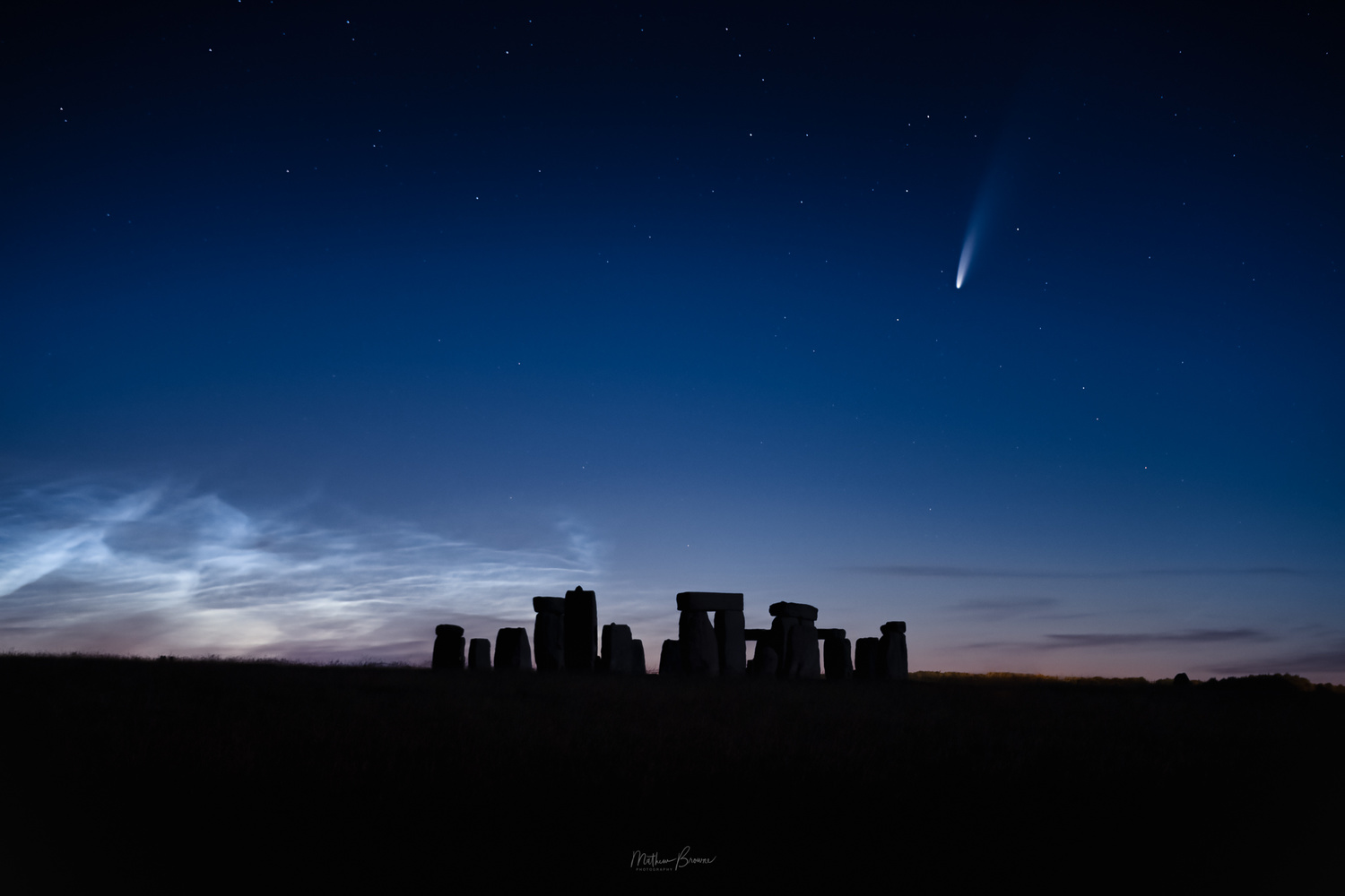 Comet Neowise Over Stonehenge by Mathew Browne