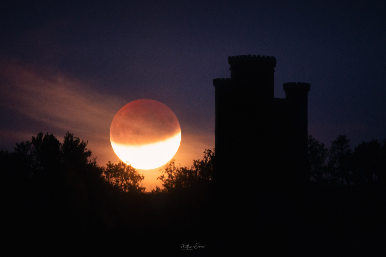 Carmarthenshire Lunar Eclipse by Mathew Browne