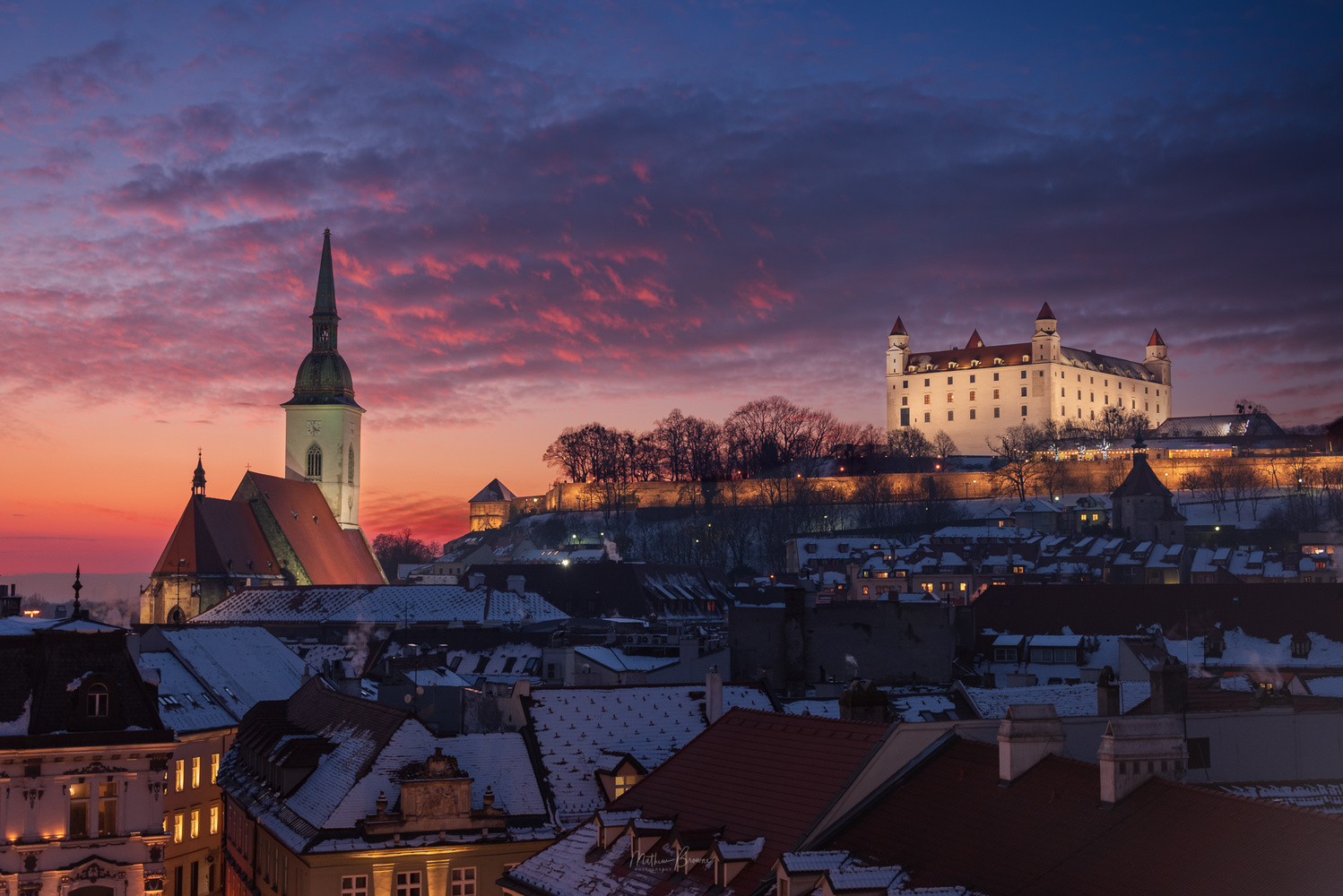 Bratislava Winter Sunset by Mathew Browne