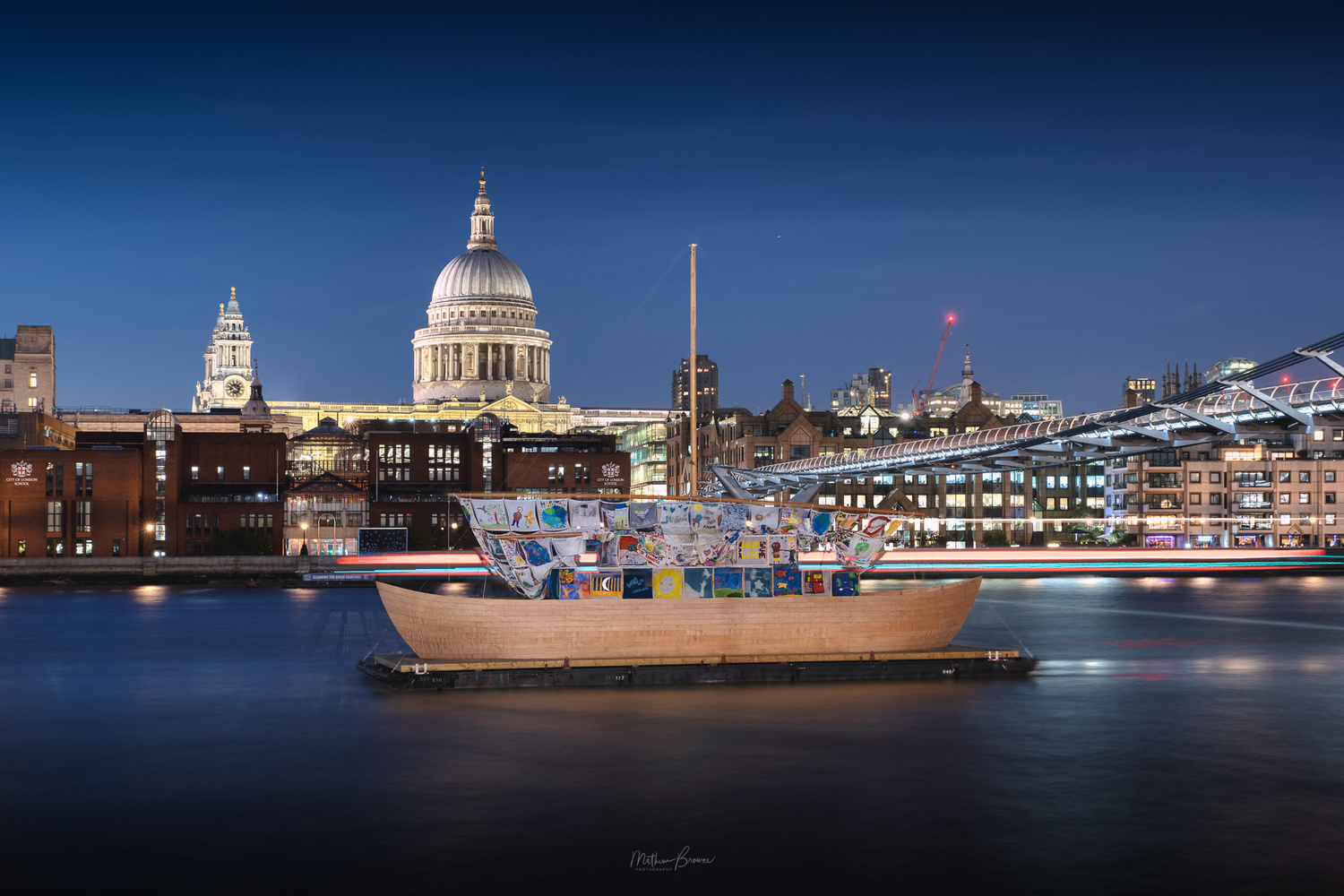 Blue Hour Thames by Mathew Browne