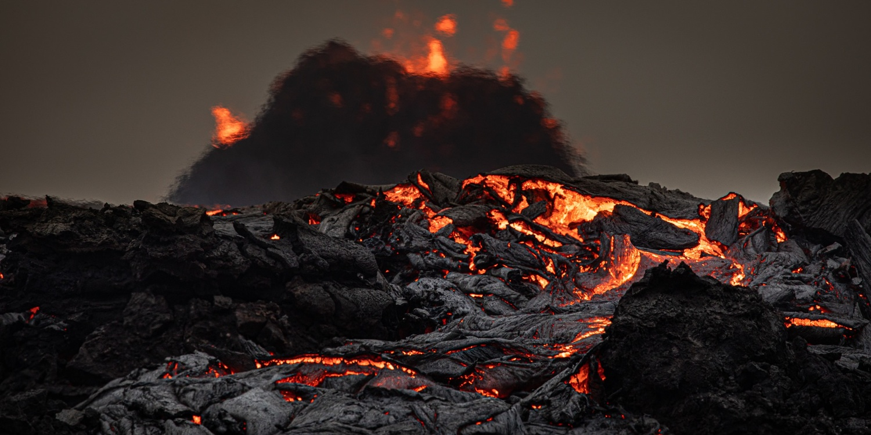 Volcanic eruption in Iceland by Tryggvi Már Gunnarsson
