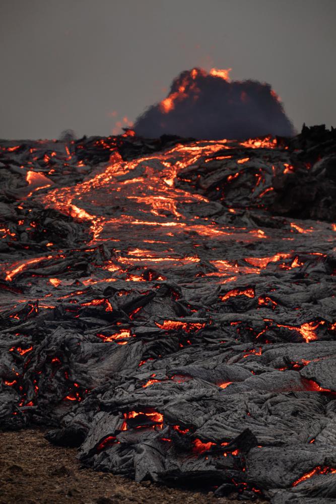 River of fire by Tryggvi Már Gunnarsson